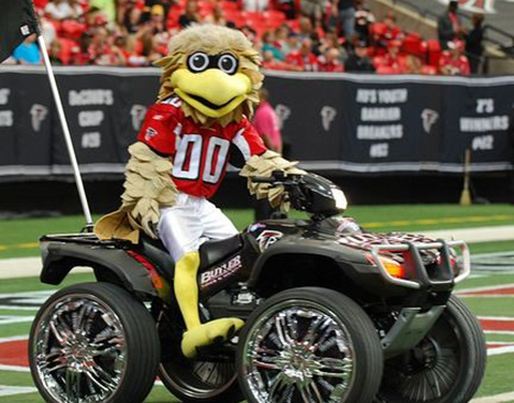 Freddie Falcon Mascot